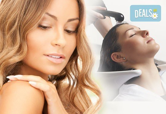 Грижа за косата! Измиване с продукти според нуждите на косата, маска, прическа със сешоар и подарък лакиране с OPI, салон Мелинда! - Снимка 1