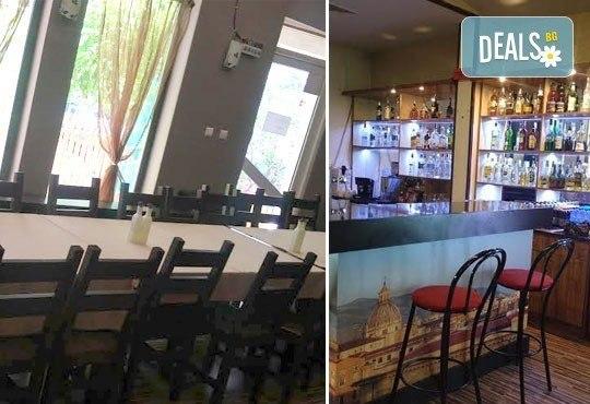 Обяд или вечеря в Ресторант градина БРИКС! ДВЕ големи пици + ДВЕ чаши бяло вино само за 9.00лв! - Снимка 7
