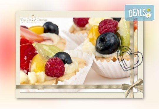 110 солени хапки с тиквички, луканка, сирена и сладки тарталети с ванилов крем и плодове от Топ Кет Кетъринг! - Снимка 2