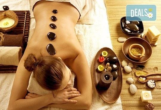 Без стрес и умора! 90-минутен абянга аюрведичен масаж на цяло тяло, Hot-Stone терапия с вулканични камъни, Green Health! - Снимка 2