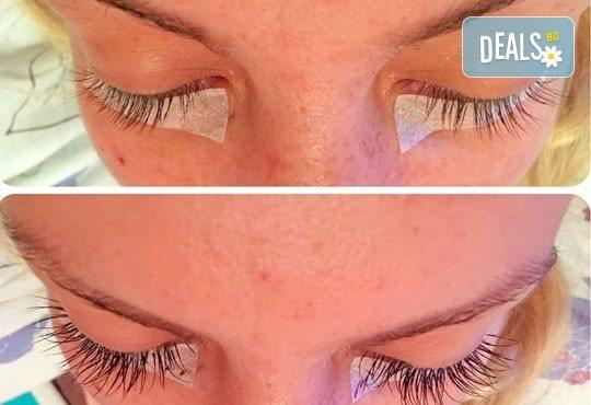 Удължаване и сгъстяване на мигли чрез метода косъм по косъм от естествена коприна и 50% отстъпка от първата поддръжка в салон за красота Ивелина Студио! - Снимка 6