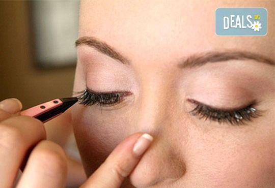 Удължаване и сгъстяване на мигли чрез метода ''косъм по косъм'' с косъмчета от норка или копринени мигли и бонус от NSB Beauty Center! - Снимка 2
