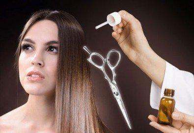 Нова визия! Подстригване, маска, терапия на коса с италианска козметика, ампула и сешоар от Салон за красота Belisimas - Снимка