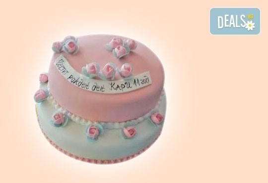 Празнична торта с пъстри цветя, дизайн на Сладкарница Джорджо Джани - Снимка 22