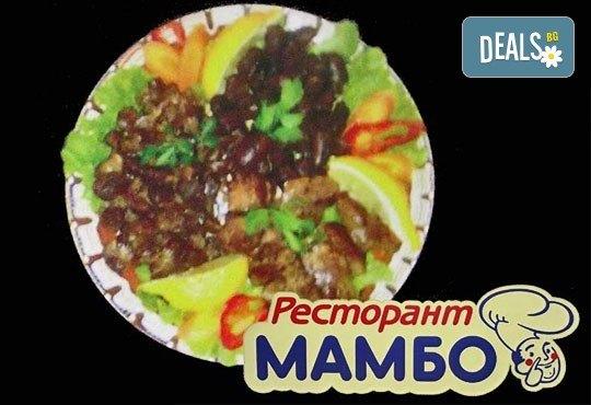 Пилешка замезка за двама и 2 броя мешана салата в Ресторант - механа Мамбо в центъра на София! - Снимка 1
