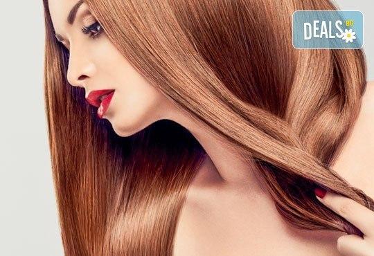 Масажно измиване, полираща терапия за коса на Milkshake, оформяне със сешоар и подстригване по избор в студио BLOOM beauty & spa! - Снимка 1