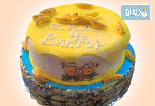 Детска торта Миньон, дизайн по избор в 3D проект от Сладкарница Орхидея! - Снимка 2