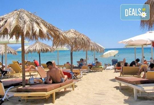В слънчева Гърция за ден през август или септември! На плаж на Ammolofi Beach, Неа Перамос - транспорт, застраховка и водач! - Снимка 1