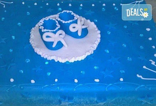 Бутикова торта с щампа Happy Birthday, перли, орхидеи, рози и любими детски герои от сладкарница Орхидея! - Снимка 6