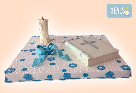 Бутикова торта с щампа Happy Birthday, перли, орхидеи, рози и любими детски герои от сладкарница Орхидея! - Снимка 2