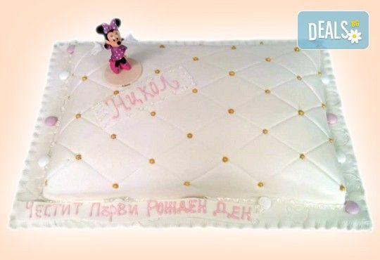 Бутикова торта с щампа Happy Birthday, перли, орхидеи, рози и любими детски герои от сладкарница Орхидея! - Снимка 10