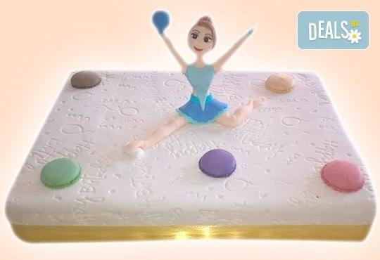 Бутикова торта с щампа Happy Birthday, перли, орхидеи, рози и любими детски герои от сладкарница Орхидея! - Снимка 5