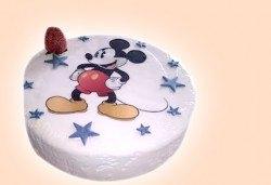 Бутикова торта с щампа Happy Birthday, перли, орхидеи, рози и любими детски герои от сладкарница Орхидея! - Снимка