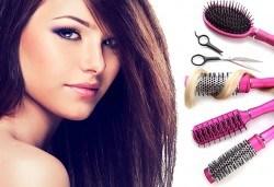 Подстригване, измиване с висок клас продукти, маска според типа коса, стилизиращ продукт и подсушаване в салон Дежа Вю! - Снимка