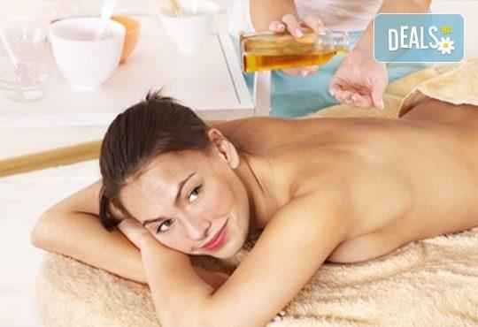 За пълен релакс! Класически, болкоуспокояващ, спортен или релаксиращ масаж на цяло тяло в салон Визия! - Снимка 2