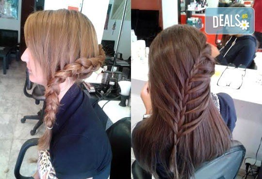 2, 3 плитки или рибена кост на измита коса от салон за красота Soleil! - Снимка 3