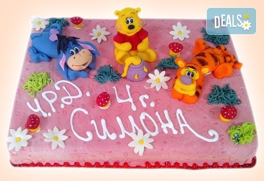 3D торта с любими на децата герои от филмчета по дизайн на Сладкарница Орхидея! - Снимка 2