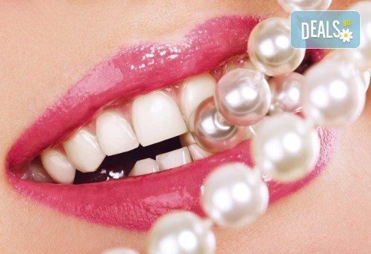 Избелване с White Pearls, полиране с Air Flow и почистване на зъбен камък от АИППМПДМ - др. Петя Петрова! - Снимка 1