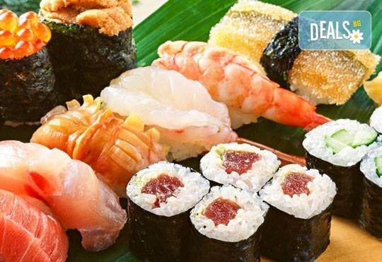 Вълшебен суши вкус! Филаделфия сет - 68 хапки със сьомга, сурими, японска ряпа, авокадо - Club Gramophone - Sushi Zone! - Снимка 2