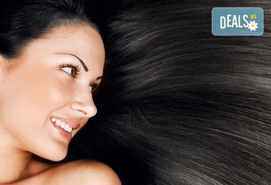 Масажно измиване с продуктите на KEUNE, полиране на косата - премахване на цъфтежите, без отнемане на дължината в Ивелина студио! - Снимка 1