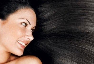 Масажно измиване с продуктите на KEUNE, полиране на косата - премахване на цъфтежите, без отнемане на дължината в Ивелина студио! - Снимка