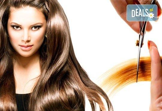 Масажно измиване с продуктите на KEUNE, полиране на косата - премахване на цъфтежите, без отнемане на дължината в Ивелина студио! - Снимка 3
