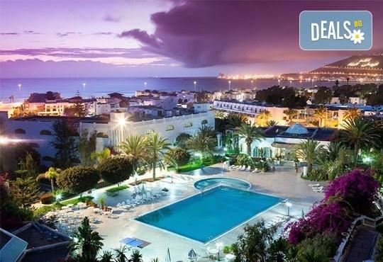 Super last minute промоция за почивка в Мароко само за 06-13.09.16г.! 7 нощувки, закуска и вечеря в хотел Blue Sea Le Tivoli 4*, Агадир, двупосочен билет, летищни такси и трансфери! - Снимка 1