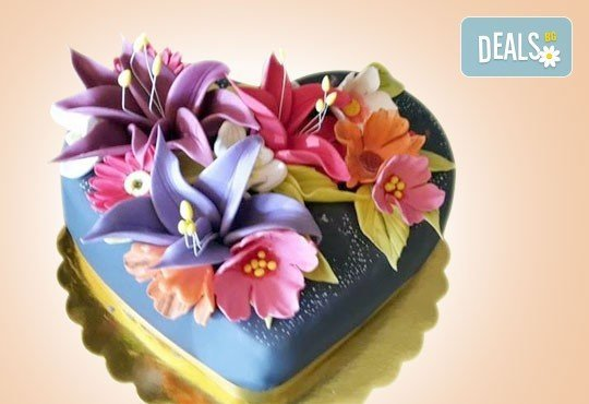 Романтика за двама! Подарете Торта Сърце по дизайн на Сладкарница Джорджо Джани - Снимка 2