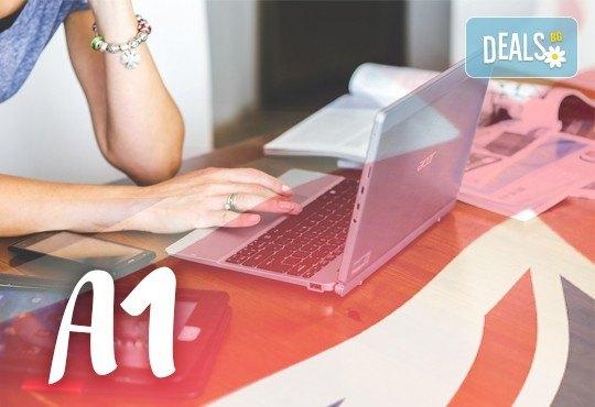 Онлайн курс по английски език с преподавател на живо на ниво А1, 25 учебни часа, в школа Без граници! - Снимка 1