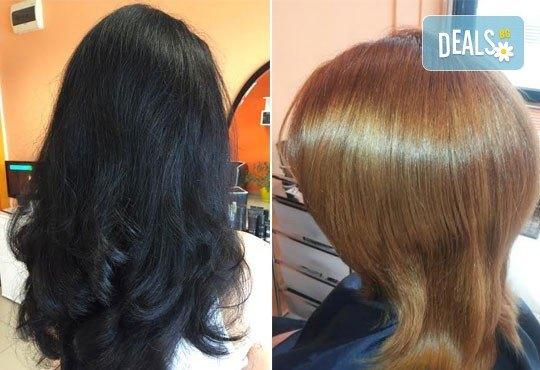 Съживете косата си с пакет услуги по избор! Измиване, подхранване с продукти на L'oreal, подстригване и прическа със сешоар, в Ивани Стил! - Снимка 4