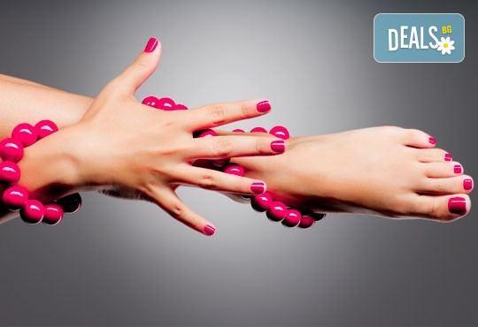 Маникюр и/или педикюр с гел лак Gelish, Bluesky или S&A и подарък: масаж на ръце и на ходила в студио Denny Divine! - Снимка 2