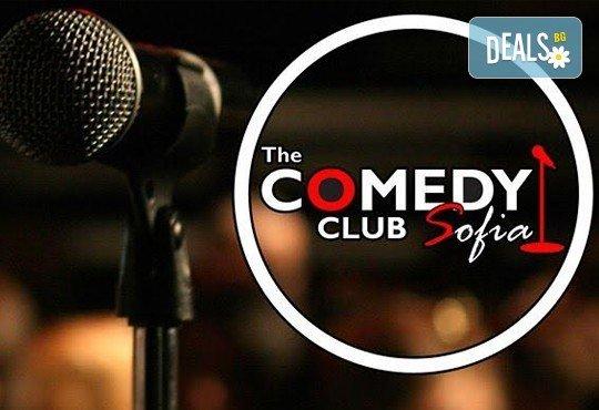 Билет за вход и напитка за комеди вечер, дата по избор през септември, в The Comedy Club Sofia, ул. Леге N8 - билет за един! - Снимка 1