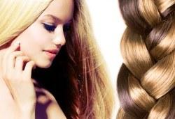 Подстригване, масажно измиване, терапия според типа коса, оформяне на прическа със сешоар, обем в корените по желание и подарък плитка - Снимка