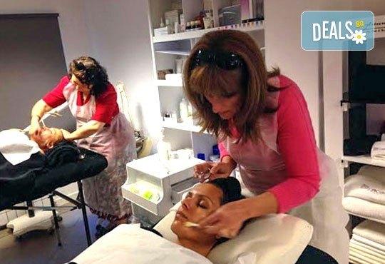 Мануално почистване на лице, пилинг, масаж и терапия с френската козметика Academie в Салон Blush Beauty - Снимка 5