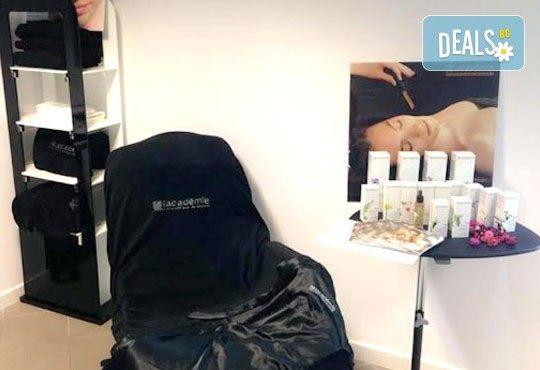 Мануално почистване на лице, пилинг, масаж и терапия с френската козметика Academie в Салон Blush Beauty - Снимка 6