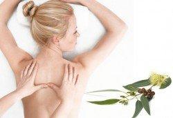 Релаксиращ масаж на гръб с жасмин, евкалипт, алое в Студио Мания