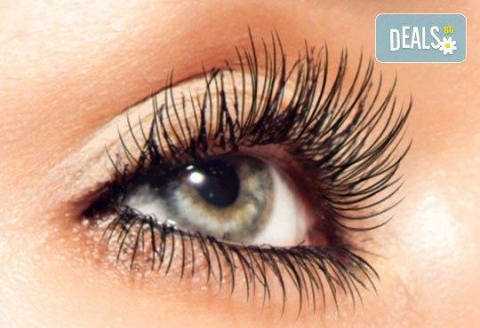 Удължаване и сгъстяване на мигли чрез метода косъм по косъм или 3D технология в салон Виктория, кв. Витоша! - Снимка 1