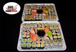 Насладете се на японската кухня! Вземете 108 суши хапки с пушена сьомга, скариди, сурими раци и филаделфия от Sushi Market! - Снимка