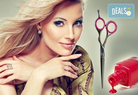 Измиване, маска според типа коса, оформяне със сешоар и подарък: лакиране с O.P.I. в студио Мелинда! - Снимка 1
