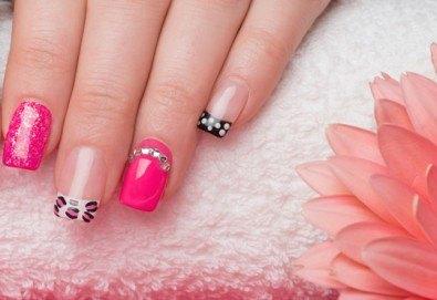 Красиви нокти! Ноктопластика с изграждане и 4 декорации в Салон за красота Belisimas - Снимка