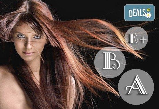 Иновативна терапия за коса с кератинова баня: мирта, иланг-иланг, върба, коприва и витамини А, С и Е и сешоар в център Енигма във Варна - Снимка 1