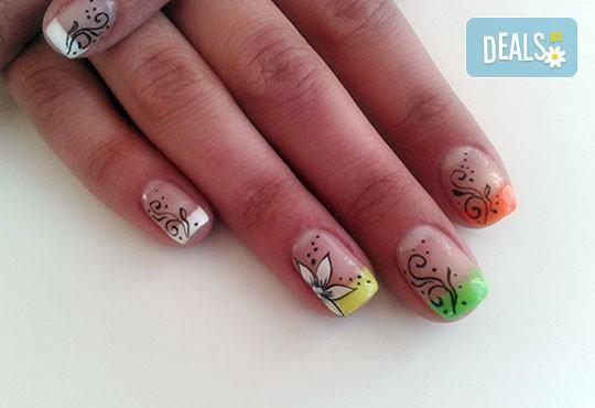 Нежни ръце и красиви нокти! Траен маникюр с най-новите гел лакове на Astonishing Nails и декорации по избор от Дерматокозметични центрове Енигма - Снимка 19