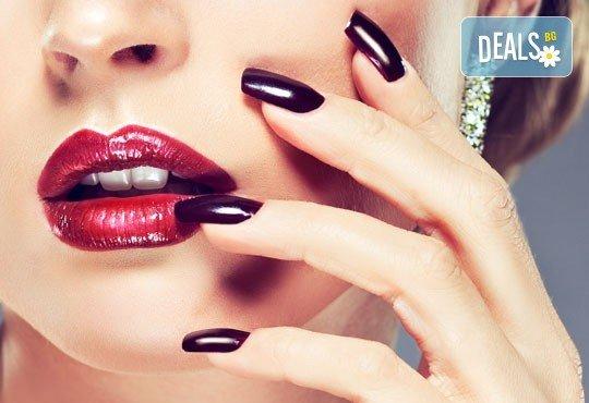 Маникюр или педикюр с нови колекции гел лакове Gelosophy на Astonishing nails 2016 масажна терапия Шоколад от Дерматокозметични центрове Енигма - Снимка 2