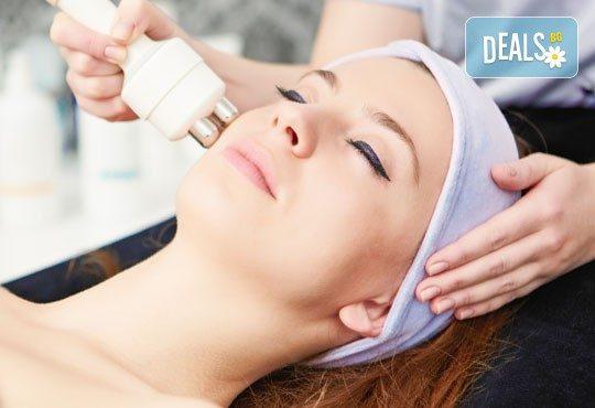Интензивна платинена регенерация на лице, шия и деколте, плюс дълбоко ултразвуково почистване Ultrasonic ION + LED в център Енигма! - Снимка 2