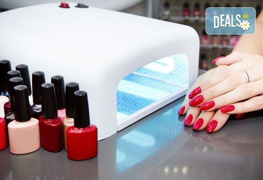 Маникюр с гел лак CND, 4 декорации или сваляне на стар гел лак във фризьорски салон Refined! - Снимка 3