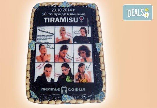 Торта за фирмени партита с бранд на фирмата от Сладкарница Орхидея - 14-16 парчета на промоционална цена - Снимка 5