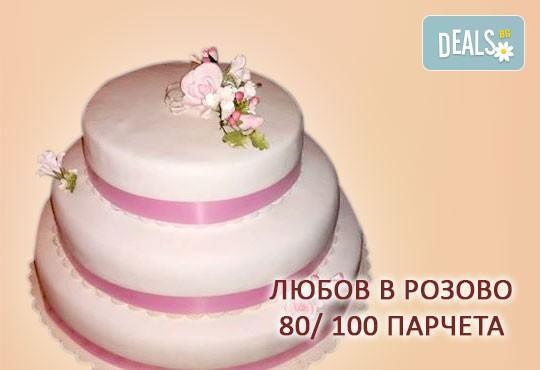 За Вашата сватба! Бутикова сватбена торта с АРТ декорация от Сладкарница Джорджо Джани - Снимка 3