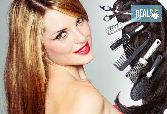 Подстригване, масажно измиване, маска и оформяне със сешоар - прав или ретро преса в салон за красота Нана! - Снимка 1