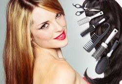 Подстригване, масажно измиване, маска и оформяне със сешоар - прав или ретро преса в салон за красота Нана! - Снимка