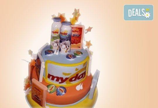 Фирмена торта с лого, индивидуален дизайн и брой парчета по избор от Сладкарница Джорджо Джани - Снимка 9